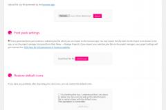 Page de gestion de la'rchive icomoon